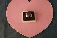 Beautiful 925 Silver Ring With Indian Ruby  2 x 1.6 Cm.Wide 10 Grams In Gift Box