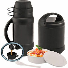 6pc Food Container Gear Jar Tea Coffee Vacuum Flask Hot Cold Camping Travel Set