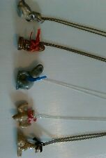 WADE CHINA WHIMSEY NECKLACE x5  COLLECTABLE ELEPHANT DUCK SWALLOW GIRAFFE MONKEY