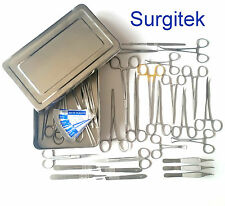 Suture Set/Suture Kit & Instrument Box 44 Piece Veterinary Surgical Instruments