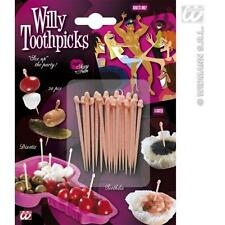 Pack Of Penis Willy Toothpicks Tooth Picks Hen Night Party Fun
