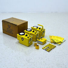 (3) Victoreen CDV-717 Civil Defense Geiger Counter Kit w/ Charger and Dosimeters