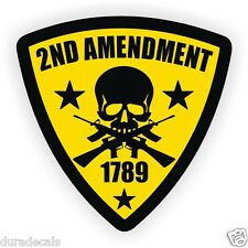 2nd Amendment Hard Hat Sticker / Welder Helmet Decal / Patriotic American USA