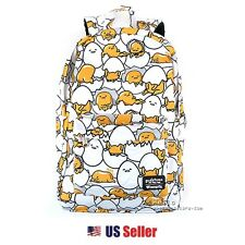 "Loungefly Sanrio Gudetama Print 18"" Printed Gudetamas School Backpack : White"