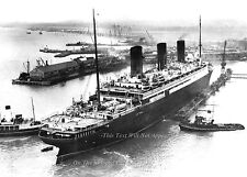 """Photo: 5"""" x 7"""": The SS Berengaria At Southampton's Floating Dock, 1934"""