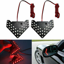 1pc Red 33-SMD Sequential LED Panel Arrows Car Side Mirror Turn Signal Lights