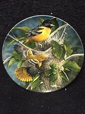 1985 The Baltimore Oriole Edwin Knowles Vintage Collectible Decorative Plate