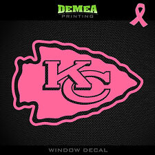 Chiefs NFL -  Breast Cancer Awareness Pink Vinyl Sticker Decal 5""