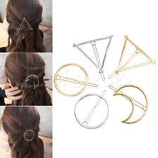 Women Fashion Korean Style Triangle Moon Hairpin Hair Clip Hair Accessories New