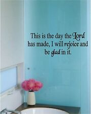 This Is the Day the Lord made Wall Sticker Wall Art Vinyl Decals Christian
