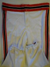 NOS Vtg 80s Rawlings Men's Baseball Pants Adult X-Large White Orange Black USA