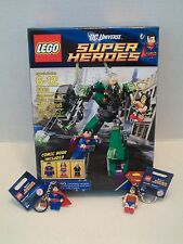 Lego #6862 Superman vs. Power Armor Lex + 2 Key Chains DC Universe NIB 2012!
