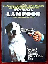 """National Lampoon Humor Magazine ~ January 1973 ~  """"We'll Kill This Dog"""" Issue"""