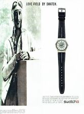 PUBLICITE ADVERTISING 116  1989  Swatch   montre Love Field