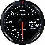 Defi Racer Gauge 52mm Turbo Meter DF06506 White