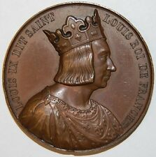 KING LOUIS IX OF FRANCE MEDAL
