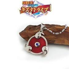 Anime Naruto Uchiha Itachi Sharingan Badge Metal Pendant Necklace Cosplay