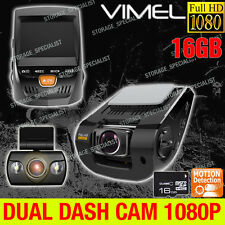 Dual Dash Camera FULL HD 1080 In Car Recorder  Dash Video CrashCam Blackbox