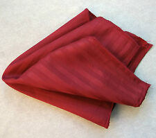 NEW CLARET RED STRIPED EGYPTIAN COTTON HANKIE HANDKERCHIEF TOP POCKET SQUARE