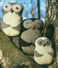 Knitting Pattern Lovely Set of Owl Toys or Cushions Vintage