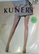 Kunert Medium Size 12 to 14 Striped Patterned Tights Tan with Grey Stripe 307910