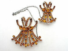 Sterling Silver Chatelaine Pins Vintage Rhinestone Sweater Scatter Brooches