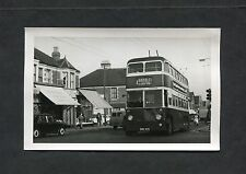 C1960's Photo - Trolley Bus in Traffic in Cardiff.