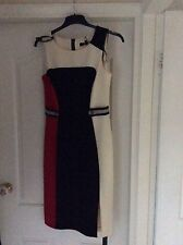 STAR BY JULIEN MACDONALD BLACK! RED & CREAM  DRESS SIZE 12
