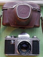 RARE EARLY ASAHI PENTAX 35mm CAMERA with SLOW SPEED DIAL 58mm f2.4 TAKUMAR + CAS