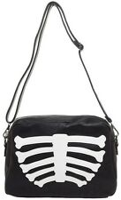Iron Fist Wishbone Clutch Bag NEW Skeleton Bones Goth Punk Rock Horror Halloween