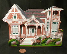 RALSTON HOUSE Albany Oregon WOOD HOUSE MODEL Eastlake Queen Anne FOLK ART signed
