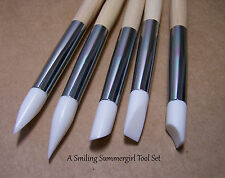 5pc Silicone Tip Clay Sculpture Tool Set for PMC, Polymer, Ceramics & Nail Art