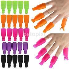 10PCS Plastic Nail Soak Off UV Gel Art Polish Remover Wrap Gelish Clip Cap