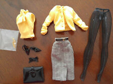 BARBIE SILKSTONE OUTFIT -'THE SECRETARY' - SKIRT & TOP & ACCESSORIES - VERY CUTE