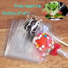 50pcs 10x15cm Empty Clear Cellophane Bags for Sweet, Lollipop, Cakepop, Cookie