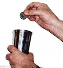 MISERS DREAM GOBLET Steel Coin Cup Glass Magic Trick Magician Appearing Money