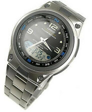 Casio Fishing Gear Moon Data Analog Digital Black Dial Watch AW-82D AW-82D-1A