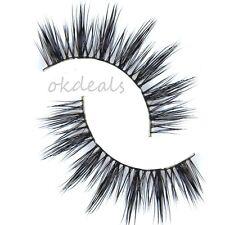 1Pair 100% Real Mink Hair Black Thick Long False Fake Eye Lashes Eyelashes