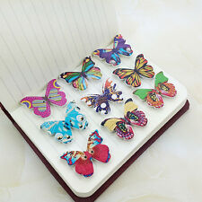 50pcs/lot Butterfly 2 Holes Natural Color Wooden Pattern Wood Sewing Buttons