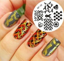 BORN PRETTY Nail Art Stamping Plate Red Ribbon Theme Image Stamp Template #26
