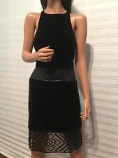 J. MENDEL Black Sequin & Velvet Sheath Dress sz 8
