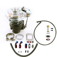 Hybrid T3 T4 T3T4 TO4E Turbo Turbocharger + Oil Drain Return FEED Line Kit RPF