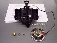 "Kieninger Howard Miller 2 Chime Quartz Clock Movement Heavy Duty Coil 3/4"" shaft"