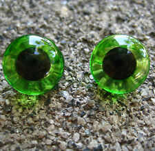 4 sets of Vintage 1/2 inch Green  Glass Eyes for Teddy Bear and Animals