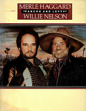 Merle Haggard & Willie Nelson SONGBOOK Ponch and Lefty 1980's 80's Austin, TX