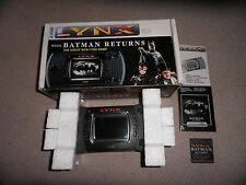 boxed atari lynx console - 100% complete - fully tested + working batman returns