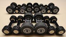 70 Lego Wheels Vehicle Parts Car Truck Tires & Rim Sets LOT