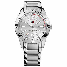 TOMMY HILFIGER 1790865 Men's Silver Stainless Steel Bracelet Watch NEW**