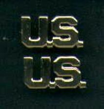 Pair of US Badges in gold US