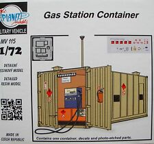 PLANET MODELS MV115 Gas Station Container Resin Kit in 1:72